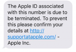 phishing, phishing scam, common phishing scams, Apple phishing scam notification